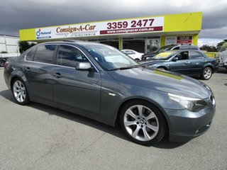 2003 BMW 5 Series E60 545i Steptronic Grey 6 Speed Sports Automatic Sedan.