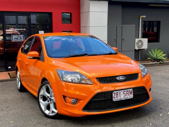 Used Ford Focus LV XR5 Turbo Ashmore, 2010 Ford Focus LV XR5 Turbo Metallic Orange 6 Speed Manual Hatchback