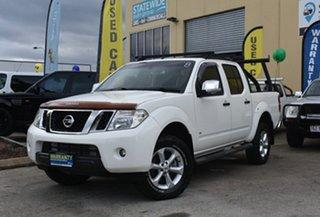 2012 Nissan Navara D40 ST-X 550 (4x4) White 7 Speed Automatic Dual Cab Utility.
