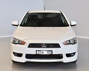 2009 Mitsubishi Lancer CJ MY10 VR-X Sportback White 5 Speed Manual Hatchback.