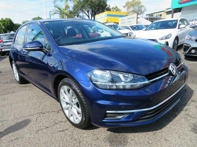 Used Volkswagen Golf 7.5 MY19 110TSI DSG Comfortline, 2018 Volkswagen Golf 7.5 MY19 110TSI DSG Comfortline Blue 7 Speed Sports Automatic Dual Clutch