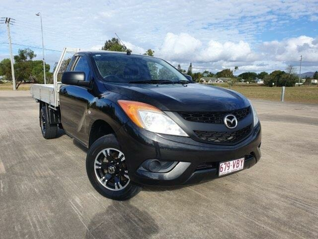 Used Mazda BT-50 UP0YD1 XT 4x2, 2014 Mazda BT-50 UP0YD1 XT 4x2 Black 6 Speed Manual Cab Chassis