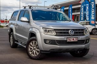 2015 Volkswagen Amarok 2H MY16 TDI420 4Motion Perm Highline Silver 8 Speed Automatic Utility.