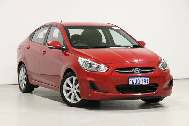 Used Hyundai Accent RB5 Sport, 2017 Hyundai Accent RB5 Sport Red 6 Speed Automatic Sedan