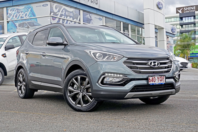 Used Hyundai Santa Fe DM3 MY17 Active X 2WD, 2017 Hyundai Santa Fe DM3 MY17 Active X 2WD Grey 6 Speed Sports Automatic Wagon