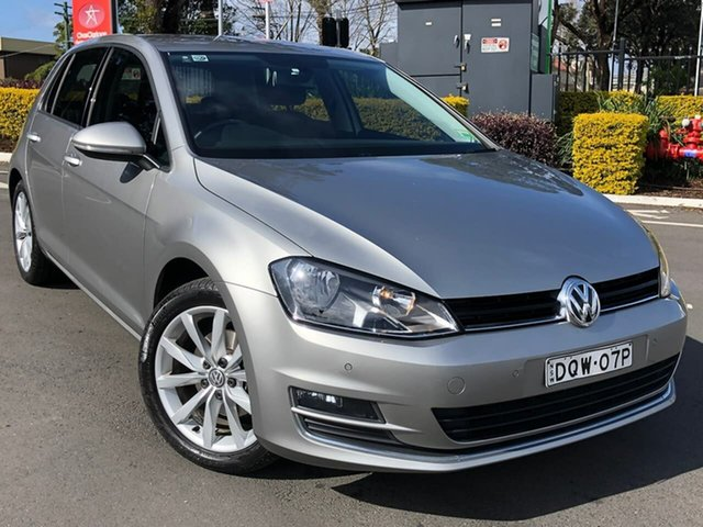 Used Volkswagen Golf VII MY15 110TDI DSG Highline, 2015 Volkswagen Golf VII MY15 110TDI DSG Highline Silver 6 Speed Sports Automatic Dual Clutch