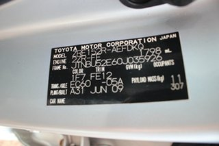 2009 Toyota Corolla ZRE152R Ascent Silver Pearl 6 Speed Manual Sedan