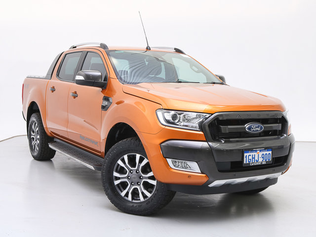 Used Ford Ranger PX MkII MY17 Wildtrak 3.2 (4x4), 2017 Ford Ranger PX MkII MY17 Wildtrak 3.2 (4x4) Orange 6 Speed Automatic Dual Cab Pick-up