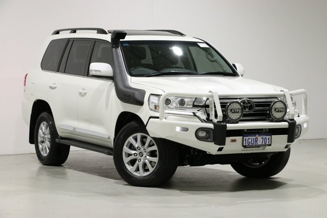 Used Toyota Landcruiser VDJ200R LC200 Sahara (4x4), 2019 Toyota Landcruiser VDJ200R LC200 Sahara (4x4) White 6 Speed Automatic Wagon