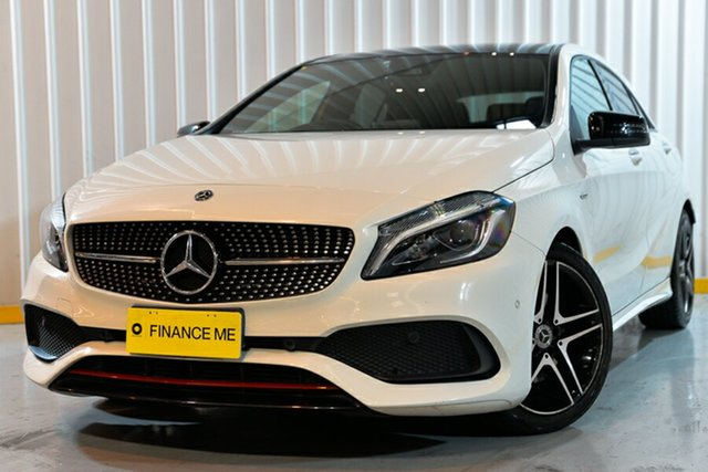 Used Mercedes-Benz A-Class W176 807MY A250 D-CT 4MATIC Sport, 2017 Mercedes-Benz A-Class W176 807MY A250 D-CT 4MATIC Sport White 7 Speed