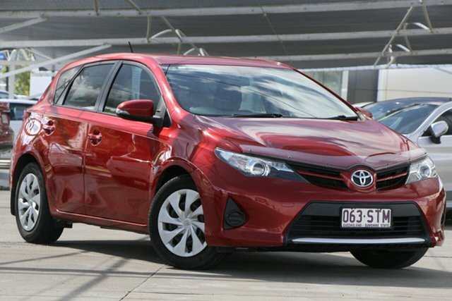Used Toyota Corolla ZRE182R Ascent, 2012 Toyota Corolla ZRE182R Ascent Red 6 Speed Manual Hatchback