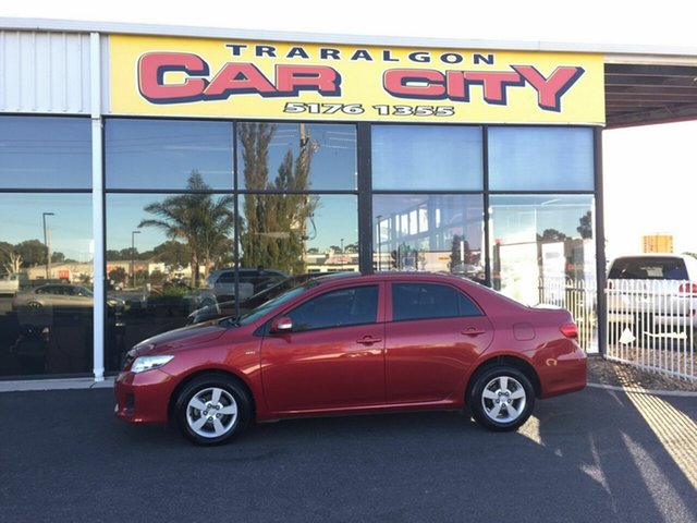 Used Toyota Corolla ZRE152R MY09 Ascent, 2010 Toyota Corolla ZRE152R MY09 Ascent Red 4 Speed Automatic Sedan