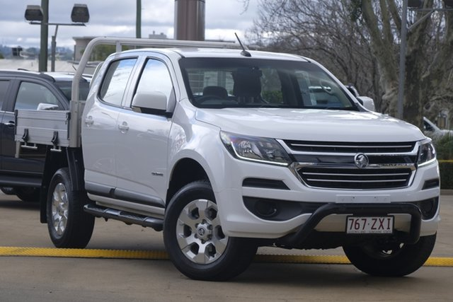 Used Holden Colorado RG MY19 LS Crew Cab 4x2, 2018 Holden Colorado RG MY19 LS Crew Cab 4x2 White 6 Speed Manual Cab Chassis
