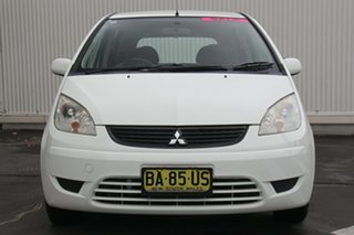 2009 Mitsubishi Colt RG MY09 ES White 1 Speed Constant Variable Hatchback
