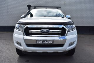 2016 Ford Ranger PX MkII XLT Super Cab White 6 Speed Manual Utility.