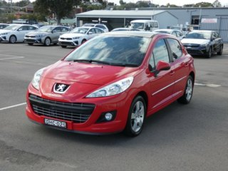 2011 Peugeot 207 A7 Series II MY10 Sportium Red 4 Speed Sports Automatic Hatchback.