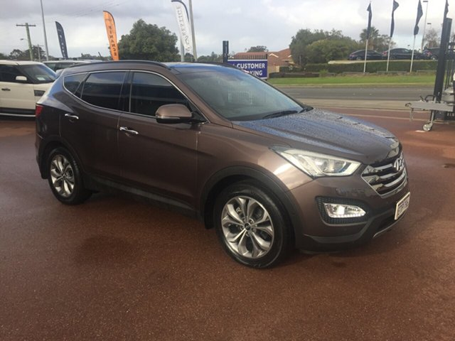 Used Hyundai Santa Fe DM MY15 Highlander CRDi (4x4) St James, 2015 Hyundai Santa Fe DM MY15 Highlander CRDi (4x4) Bronze 6 Speed Automatic Wagon