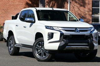2019 Mitsubishi Triton MR MY20 GLS Double Cab Premium White 6 Speed Sports Automatic Utility.
