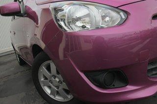 2013 Mitsubishi Mirage LA MY14 Sport Pink 5 Speed Manual Hatchback.