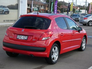 2011 Peugeot 207 A7 Series II MY10 Sportium Red 4 Speed Sports Automatic Hatchback