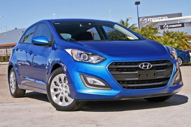 Used Hyundai i30 GD4 Series II MY17 Active, 2016 Hyundai i30 GD4 Series II MY17 Active Blue 6 Speed Sports Automatic Hatchback