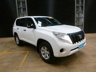2016 Toyota Landcruiser Prado GDJ150R GX White 6 Speed Sports Automatic Wagon.