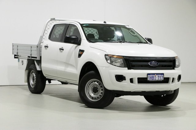 Used Ford Ranger PX XL 2.2 (4x4), 2015 Ford Ranger PX XL 2.2 (4x4) White 6 Speed Manual Crew Cab Utility