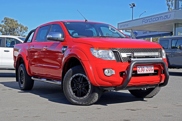 Used Ford Ranger PX XLT Double Cab, 2014 Ford Ranger PX XLT Double Cab Red 6 Speed Sports Automatic Utility