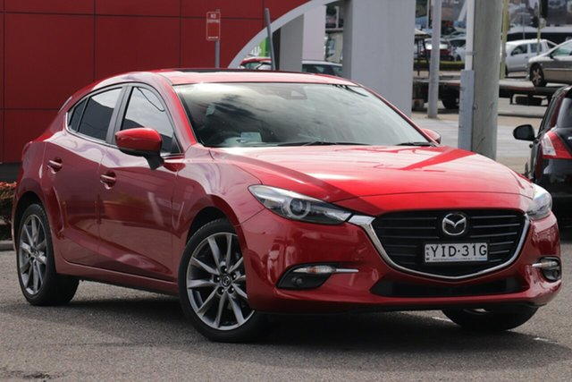 Used Mazda 3 BN5438 SP25 SKYACTIV-Drive Astina, 2017 Mazda 3 BN5438 SP25 SKYACTIV-Drive Astina Red 6 Speed Sports Automatic Hatchback