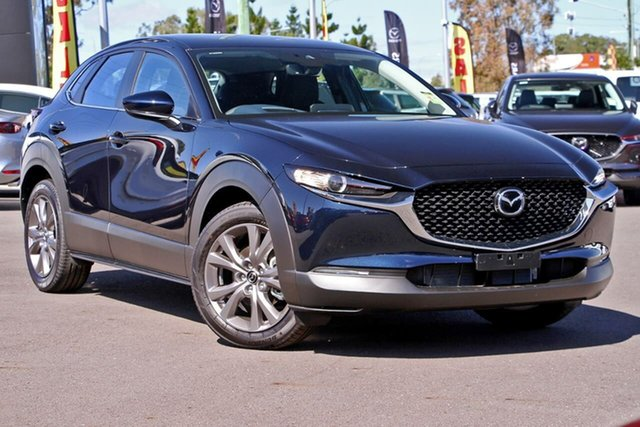 Demo Mazda CX-30 DM2W7A G20 SKYACTIV-Drive Evolve Hillcrest, 2020 Mazda CX-30 DM2W7A G20 SKYACTIV-Drive Evolve Deep Crystal Blue 6 Speed Sports Automatic Wagon