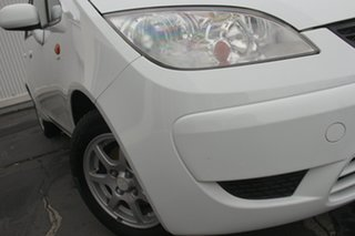 2009 Mitsubishi Colt RG MY09 ES White 1 Speed Constant Variable Hatchback.