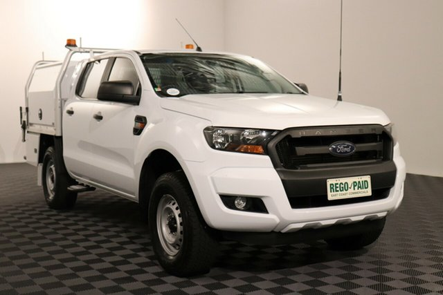 Used Ford Ranger PX MkII XL Hi-Rider, 2018 Ford Ranger PX MkII XL Hi-Rider Cool White 6 speed Automatic Utility