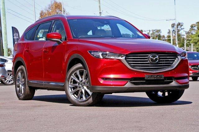 New Mazda CX-8 KG4W2A Asaki SKYACTIV-Drive i-ACTIV AWD, 2020 Mazda CX-8 KG4W2A Asaki SKYACTIV-Drive i-ACTIV AWD Soul Red Crystal 6 Speed Sports Automatic