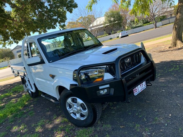 Used Mahindra Pik-Up MY18 S6, 2018 Mahindra Pik-Up MY18 S6 White 6 Speed Manual Cab Chassis
