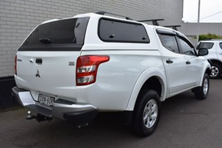 2018 Mitsubishi Triton MQ MY18 GLX+ Double Cab White 6 Speed Manual Utility