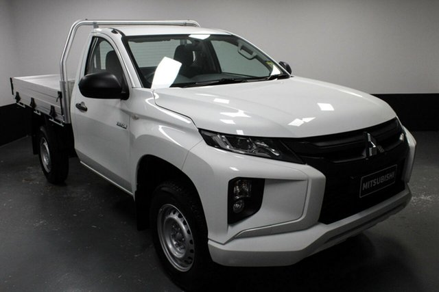 Used Mitsubishi Triton MR MY19 GLX, 2019 Mitsubishi Triton MR MY19 GLX White 6 Speed Manual Cab Chassis