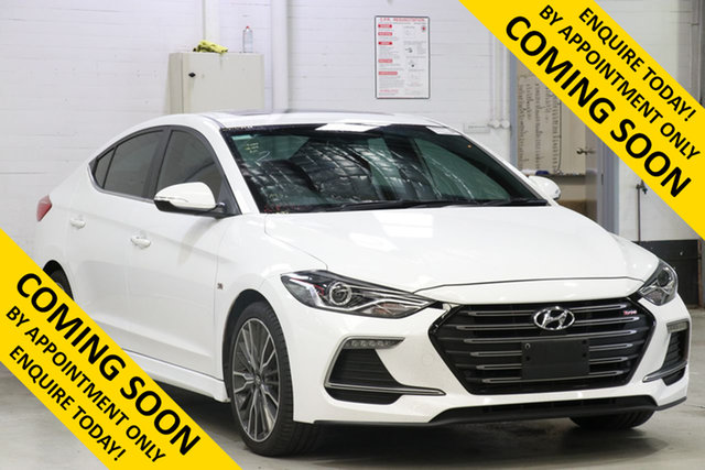 Used Hyundai Elantra AD SR Turbo, 2017 Hyundai Elantra AD SR Turbo White 6 Speed Manual Sedan