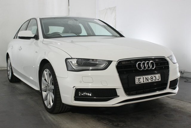 Used Audi A4 B8 8K MY15 S Line Multitronic, 2014 Audi A4 B8 8K MY15 S Line Multitronic Ibis White 8 Speed Constant Variable Sedan
