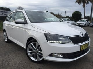 2016 Skoda Fabia NJ MY17 81TSI DSG White 7 Speed Sports Automatic Dual Clutch Wagon.