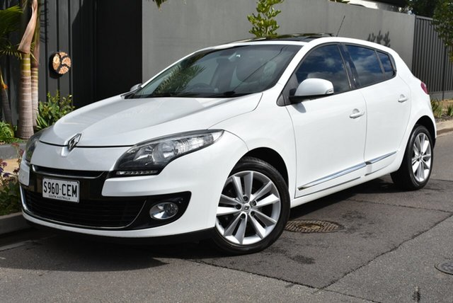 Used Renault Megane III B95 MY13 Privilege EDC, 2013 Renault Megane III B95 MY13 Privilege EDC White 6 Speed Sports Automatic Dual Clutch Hatchback