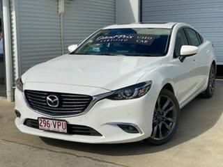 2015 Mazda 6 GJ1032 GT SKYACTIV-Drive White 6 Speed Sports Automatic Sedan.