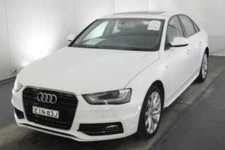 2014 Audi A4 B8 8K MY15 S Line Multitronic Ibis White 8 Speed Constant Variable Sedan