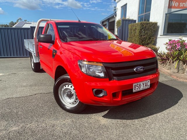 Used Ford Ranger PX XL, 2013 Ford Ranger PX XL Red 5 Speed Manual Cab Chassis