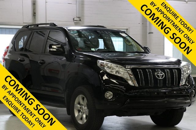 Used Toyota Landcruiser Prado KDJ150R MY14 GXL (4x4), 2014 Toyota Landcruiser Prado KDJ150R MY14 GXL (4x4) Black 5 Speed Sequential Auto Wagon