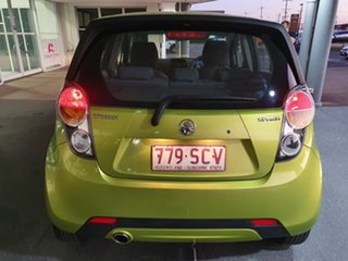 2012 Holden Barina Spark MJ MY12 CD Green 5 Speed Manual Hatchback