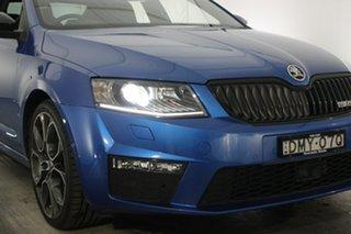 2016 Skoda Octavia NE MY16 RS Sedan DSG 135TDI Blue 6 Speed Sports Automatic Dual Clutch Liftback.
