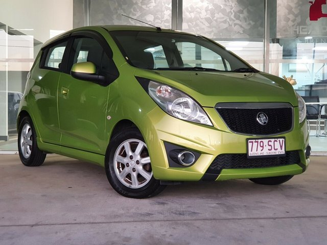 Used Holden Barina Spark MJ MY12 CD Brendale, 2012 Holden Barina Spark MJ MY12 CD Green 5 Speed Manual Hatchback