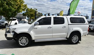 2012 Toyota Hilux KUN26R MY12 SR5 (4x4) White 4 Speed Automatic Dual Cab Pick-up