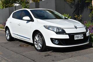 2013 Renault Megane III B95 MY13 Privilege EDC White 6 Speed Sports Automatic Dual Clutch Hatchback
