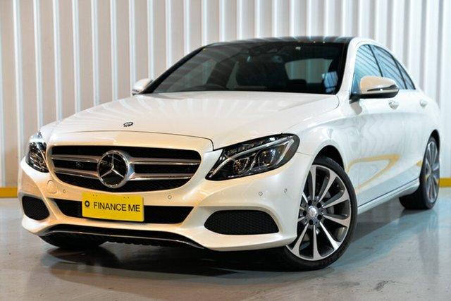 Used Mercedes-Benz C-Class W205 806+056MY C300 h 7G-Tronic +, 2016 Mercedes-Benz C-Class W205 806+056MY C300 h 7G-Tronic + White 7 Speed Sports Automatic Sedan